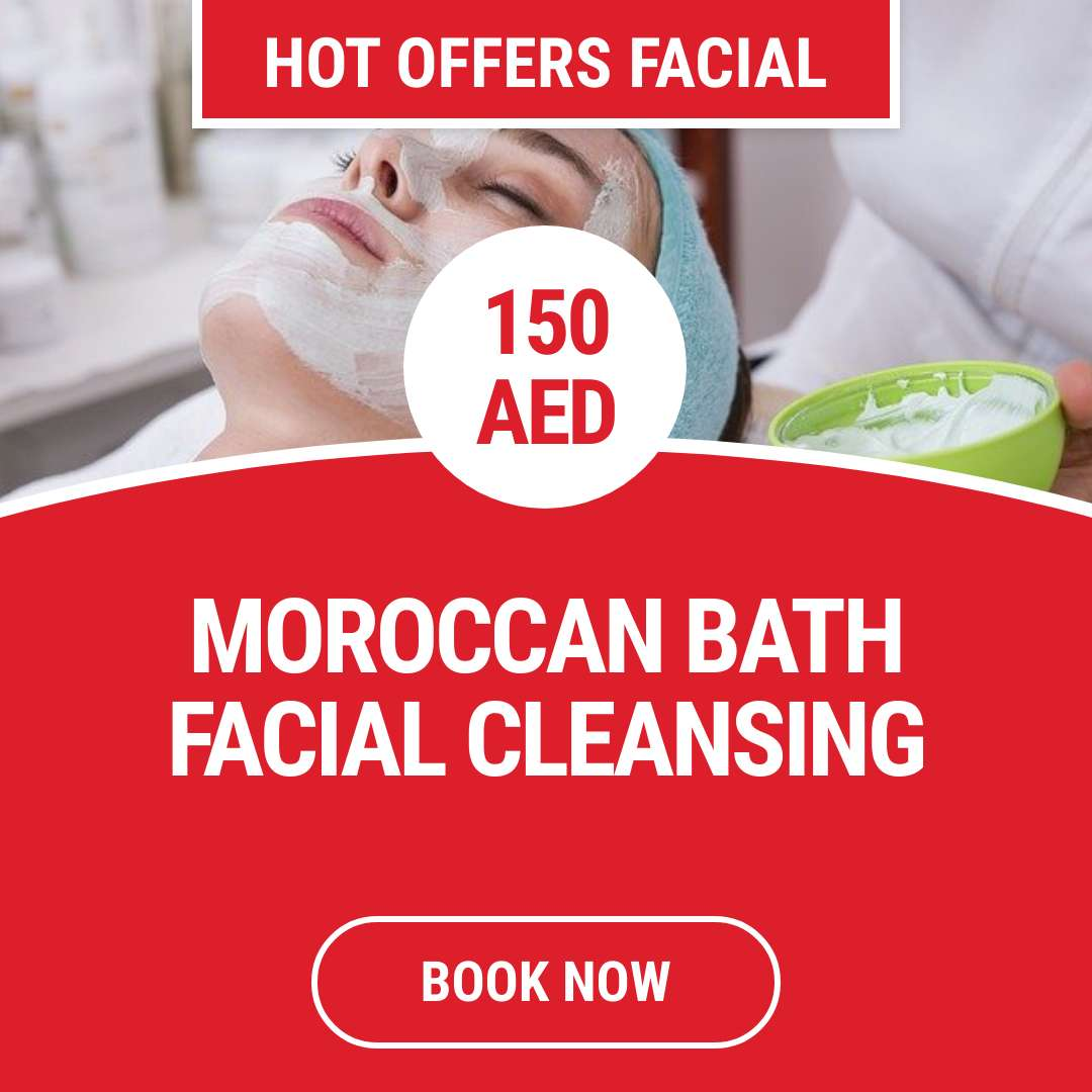 Moroccan bath facial cleansing