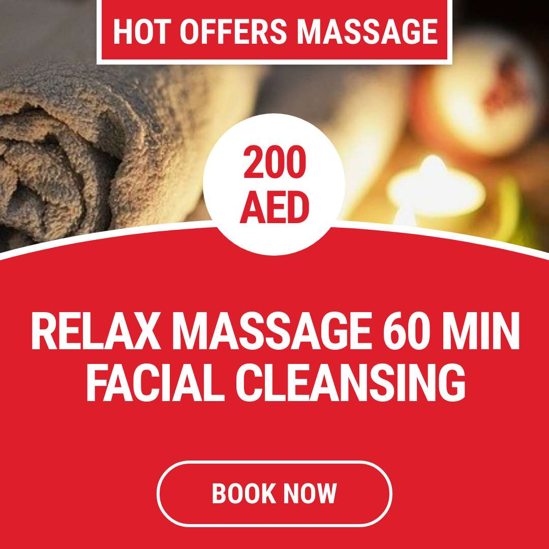 Relax massage 60 min+facial cleancing